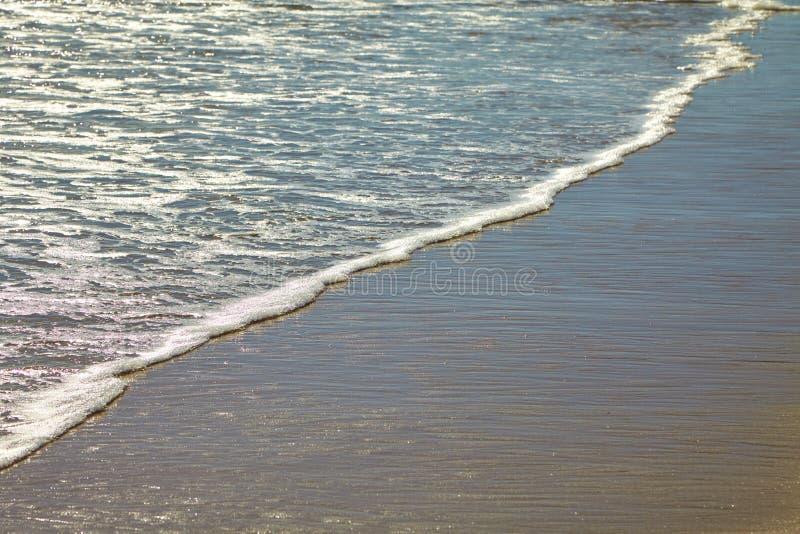 Seafoam на песчаном пляже стоковая фотография rf