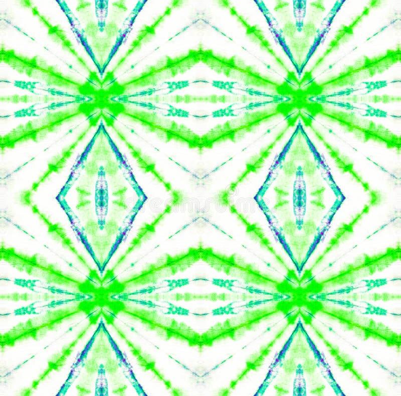 Tie Dye Pattern. Seafoam Green Tie Dye Pattern. Watercolor hand drawn batik. Summer ink japan illustration. Handmade watercolour shirt tie dye pattern. Aztec royalty free illustration