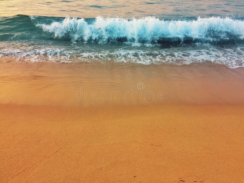 Seafoam na plaży obraz royalty free