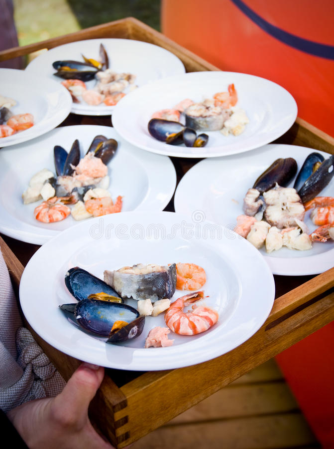 Download Seafood stock photo. Image of gourmet, serving, seafood - 14812754