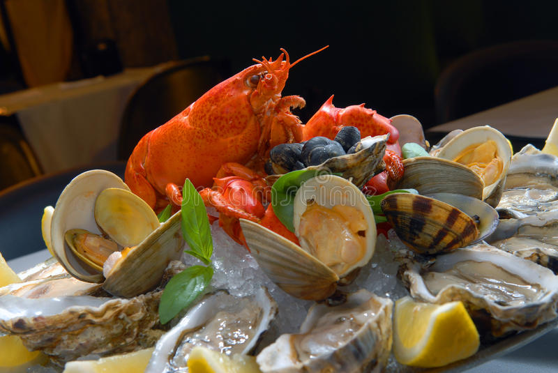 Download Seafood stock photo. Image of celebration, close, meal - 9437936