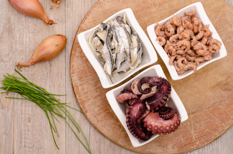 Download Seafood as appetizer stock image. Image of bowls, prawns - 34270075