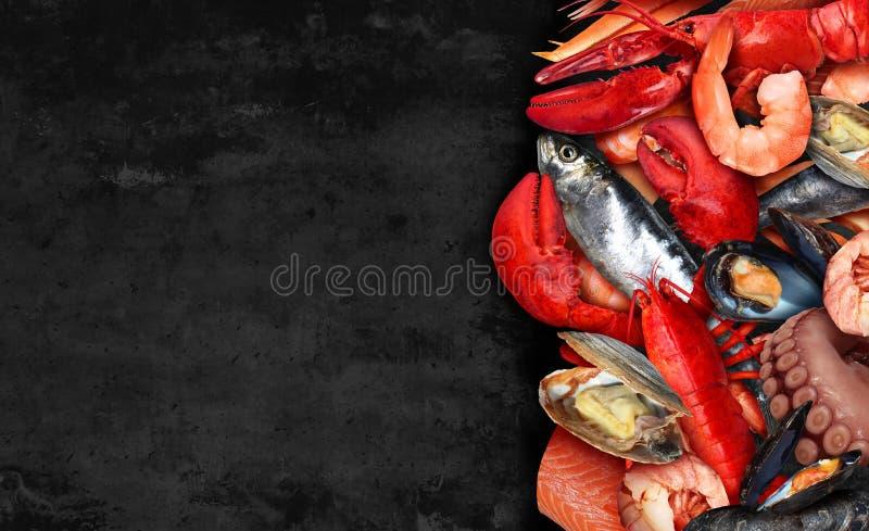 Seafood Background stock photos