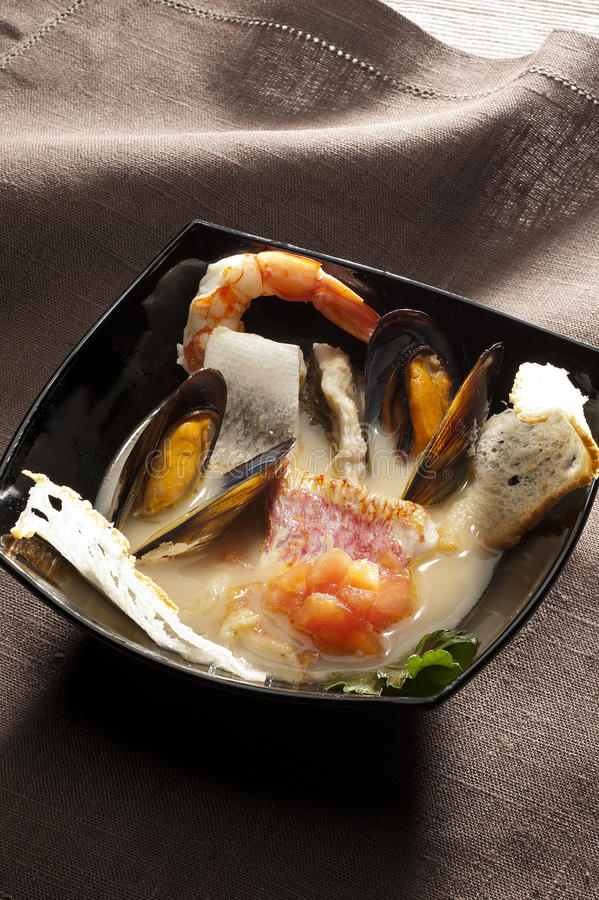 Seafood bouillabaisse royalty free stock photography