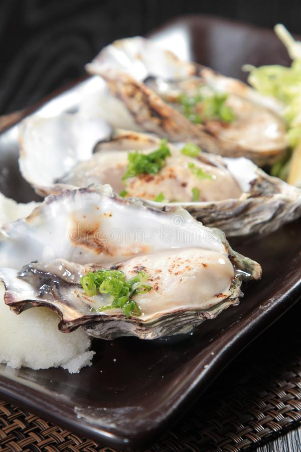 Fresh and tasty seafood cuisine royalty free stock images
