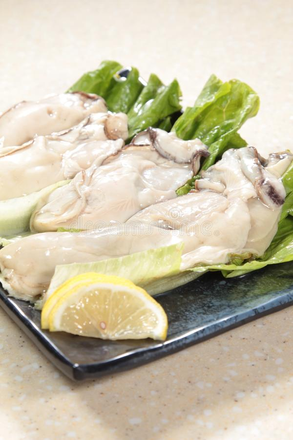 Fresh and tasty seafood cuisine stock photos