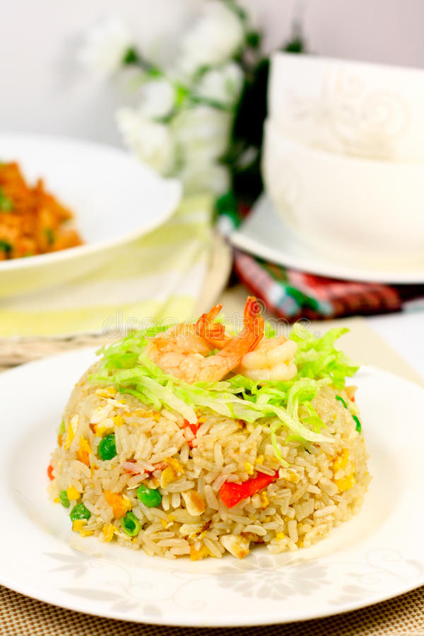Seafood Fried Rice stock photos