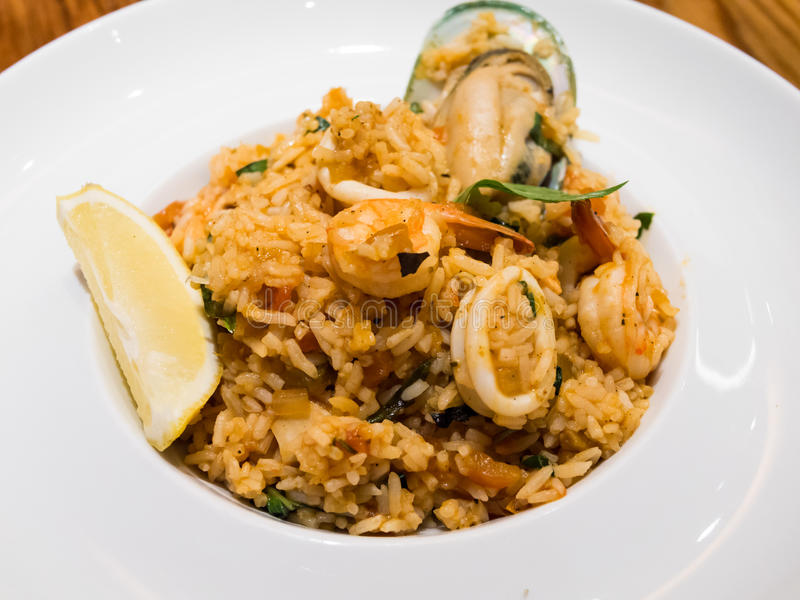Download Seafood fried rice stock photo. Image of lunch, octopus - 35392390