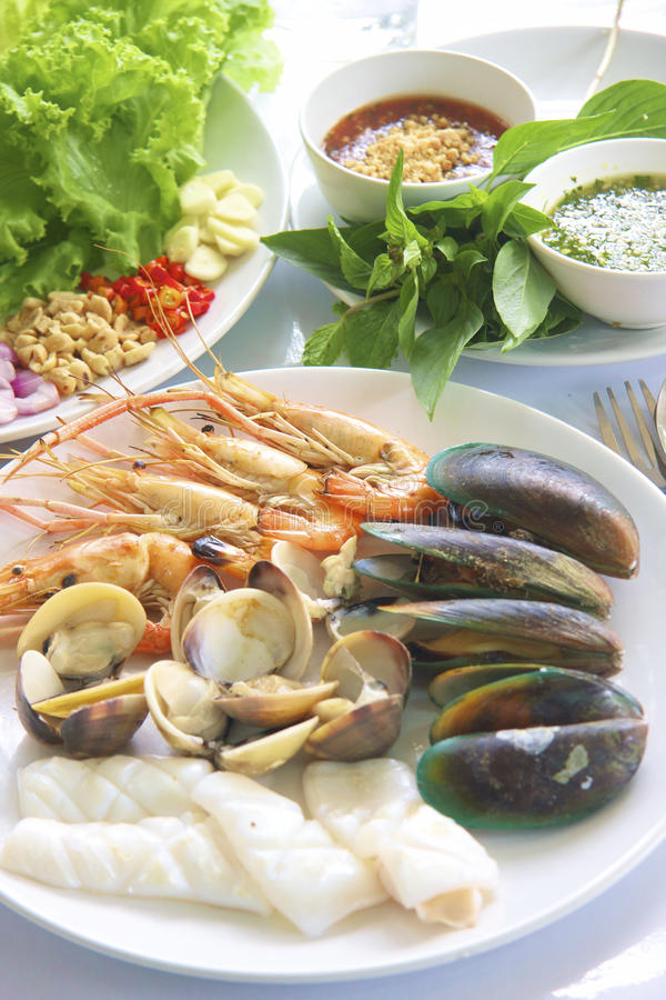 Seafood Grilled stock photography