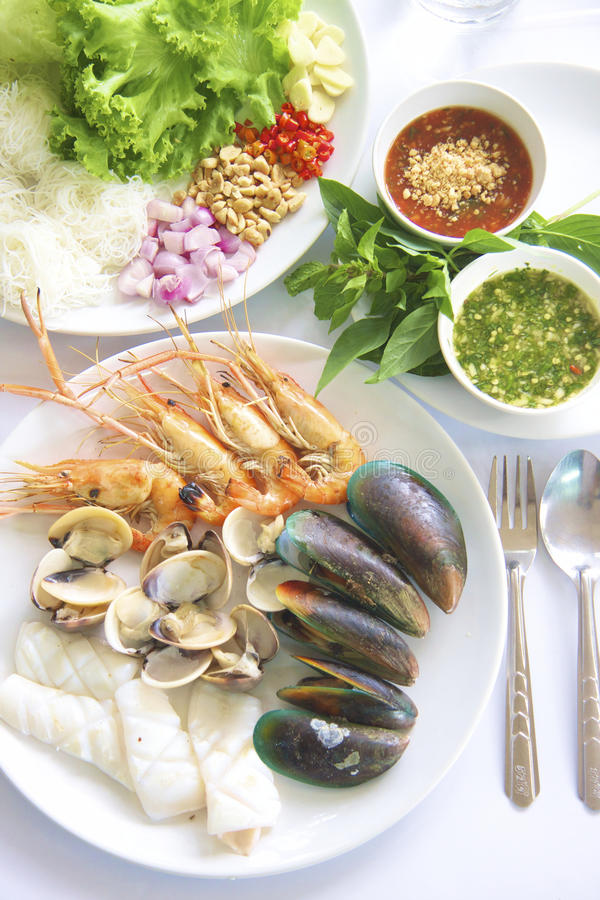 Seafood Grilled royalty free stock images
