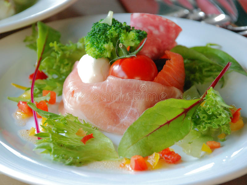 Seafood japan. Seafood sashimi set in the lunch buffet restaurant stock images