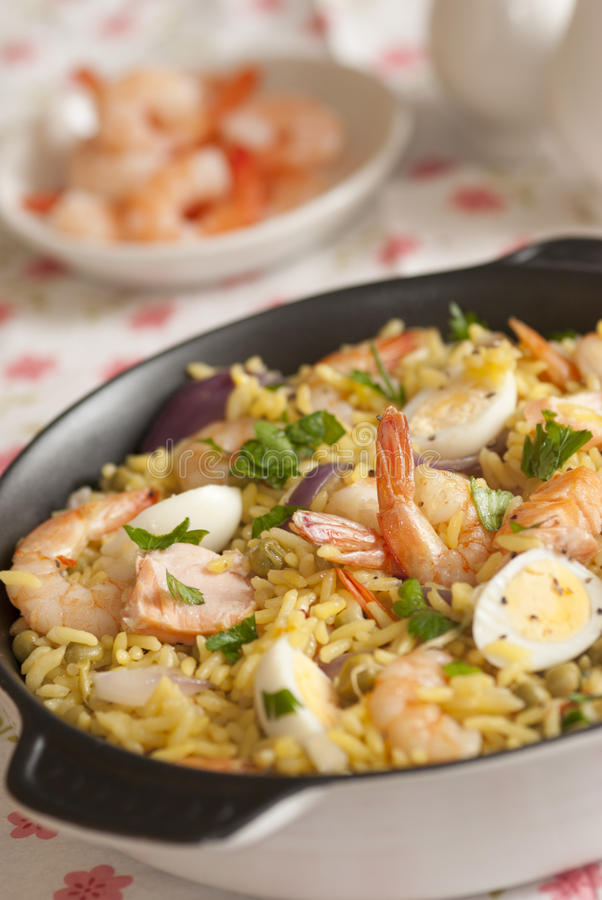 Download Seafood kedgeree stock photo. Image of boiled, rice, organic - 21590216