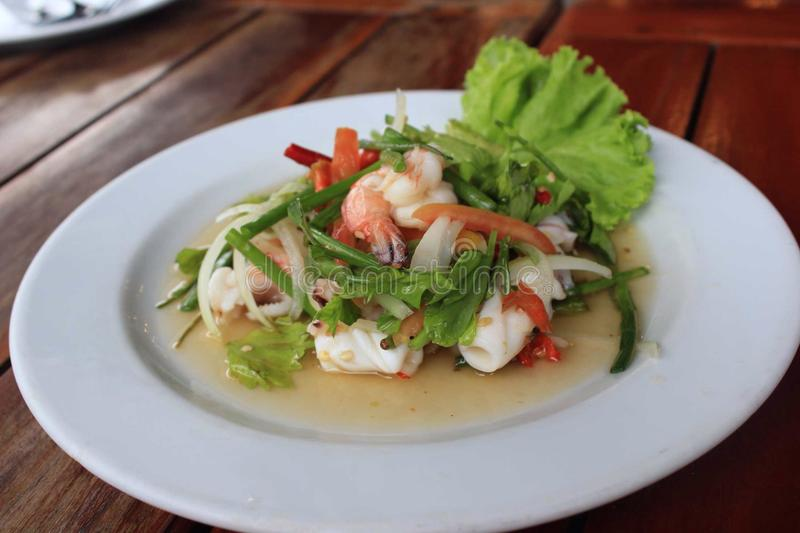 Seafood in Koh Samui royalty free stock image