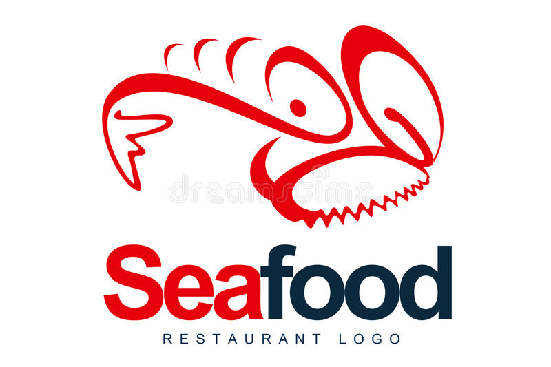 Seafood Logo. An illustration of a logo representing abstract seafood restaurant logo vector illustration