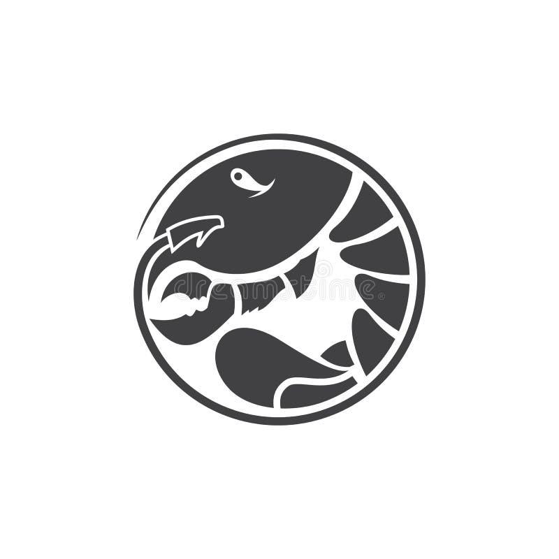 Seafood logo restaurant and menu design element. Seafood label, badge, emblem or logo for seafood restaurant menu design element. Vector illustration vector illustration