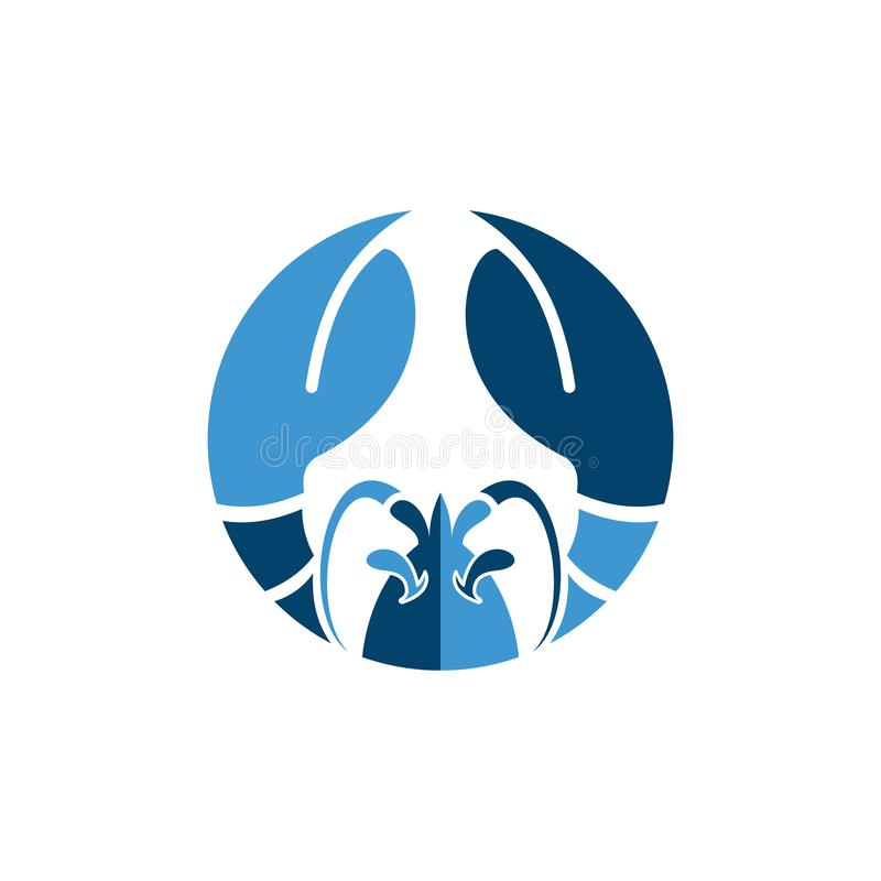Seafood logo restaurant and menu design element. Seafood label, badge, emblem or logo for seafood restaurant menu design element. Vector illustration royalty free illustration