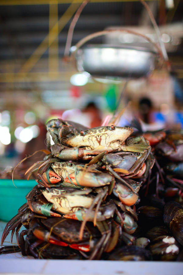 Seafood market. Exotic traditional seafood market on Boracay island in Philippines stock photo