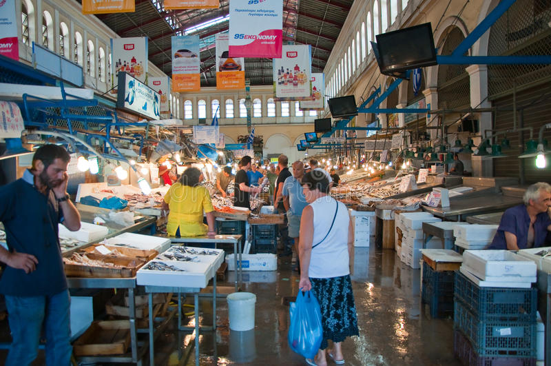 Download Seafood On The Market Of Athens On August 1, Greece. Editorial Photo - Image: 37925966