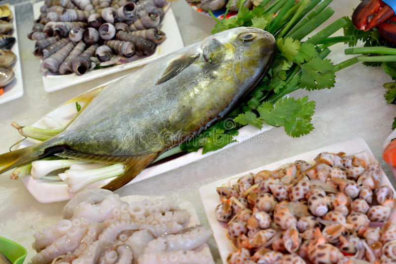 Seafood Materials For Dishes Stock Image