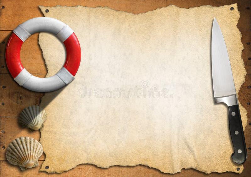 Seafood - Menu Template vector illustration