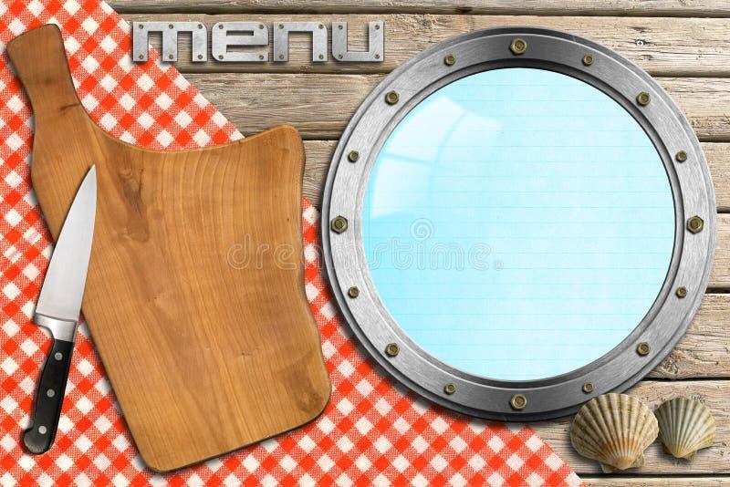 Seafood - Menu Template royalty free illustration