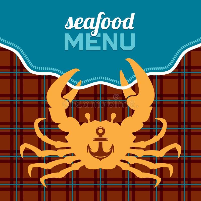Seafood Menu stock illustration