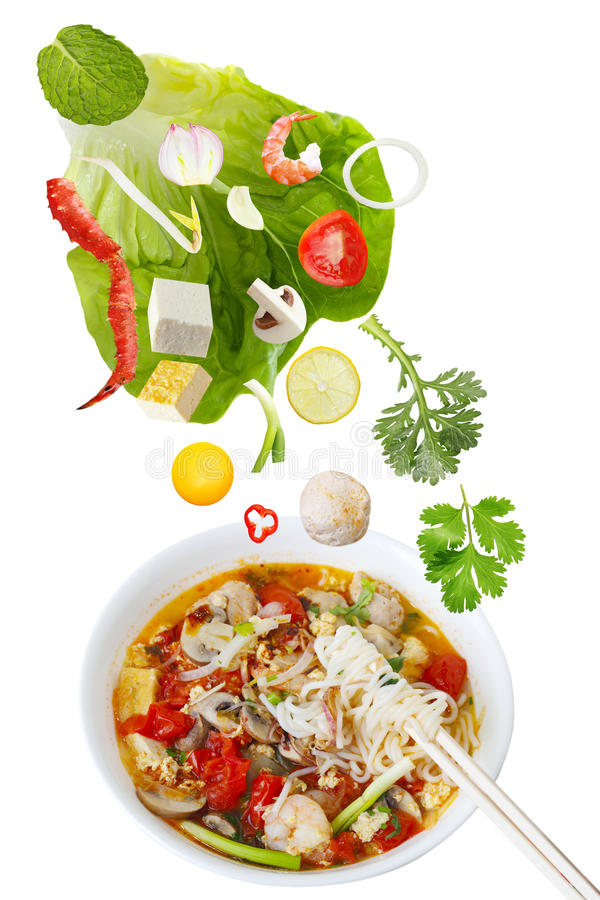 Free Seafood Noodle Royalty Free Stock Image - 19064036