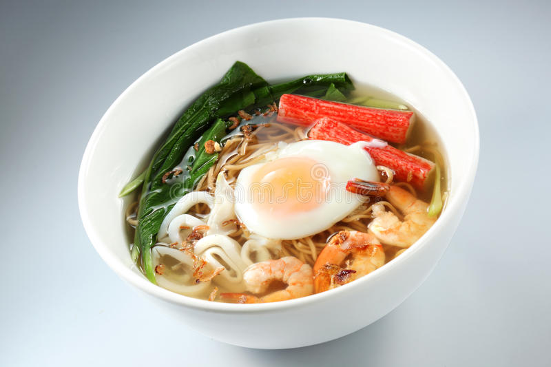 Seafood Noodles royalty free stock image