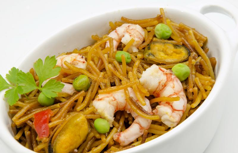 Seafood Noodles stock photos