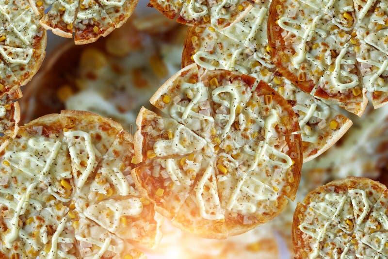 Seafood Pizza per il tuo lavoro Chiudi immagine stock libera da diritti