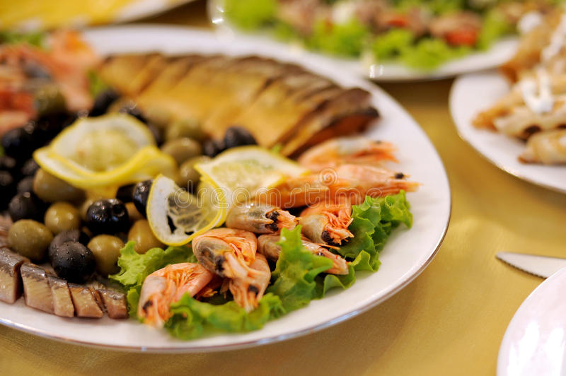 Download Seafood Plate stock image. Image of arranging, drink - 30614037