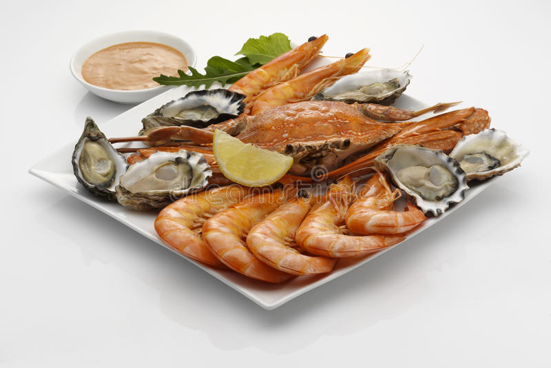 Download Seafood Platter With Dipping Sauce Stock Photo - Image: 15196062