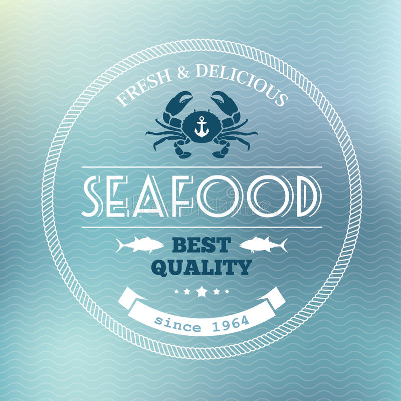 Seafood poster royalty free illustration