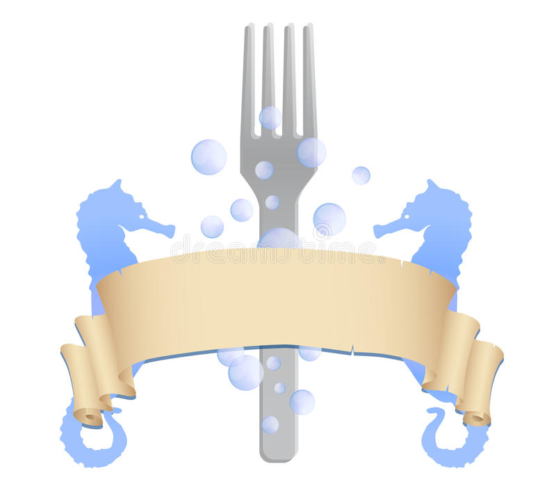 Seafood Restaurant Logo Vector Royalty Free Stock Photography