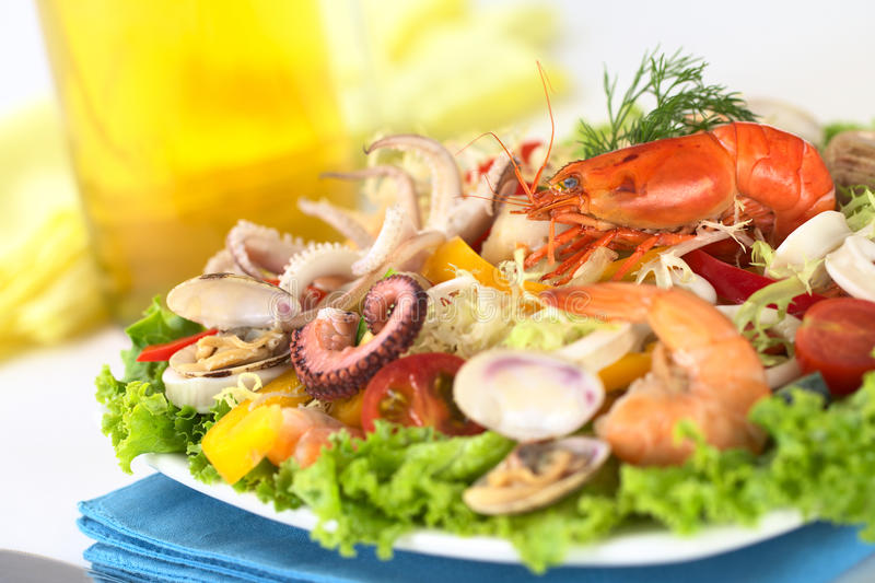 Download Seafood Salad stock photo. Image of food, prepared, pulpo - 20182588