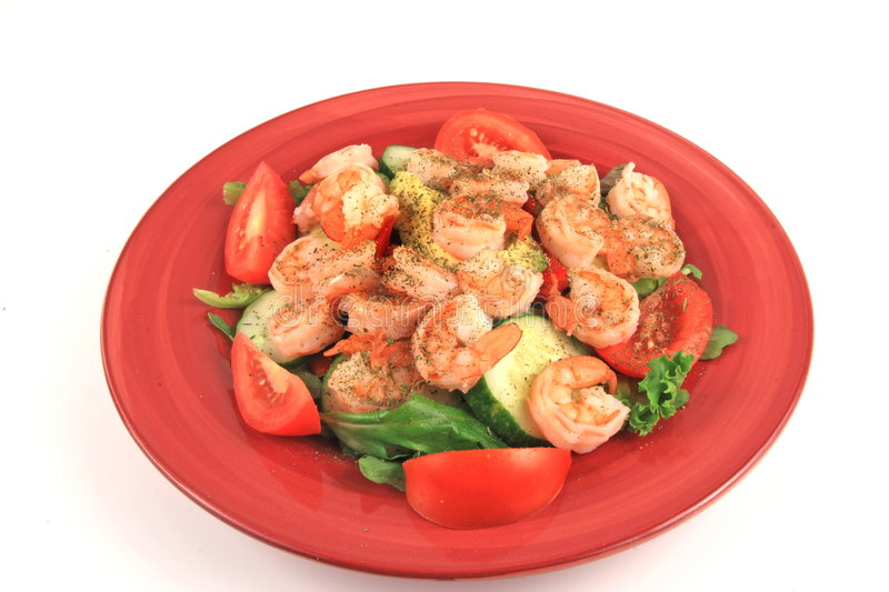 Download Seafood Salad Feast stock photo. Image of meat, diet, green - 3527438