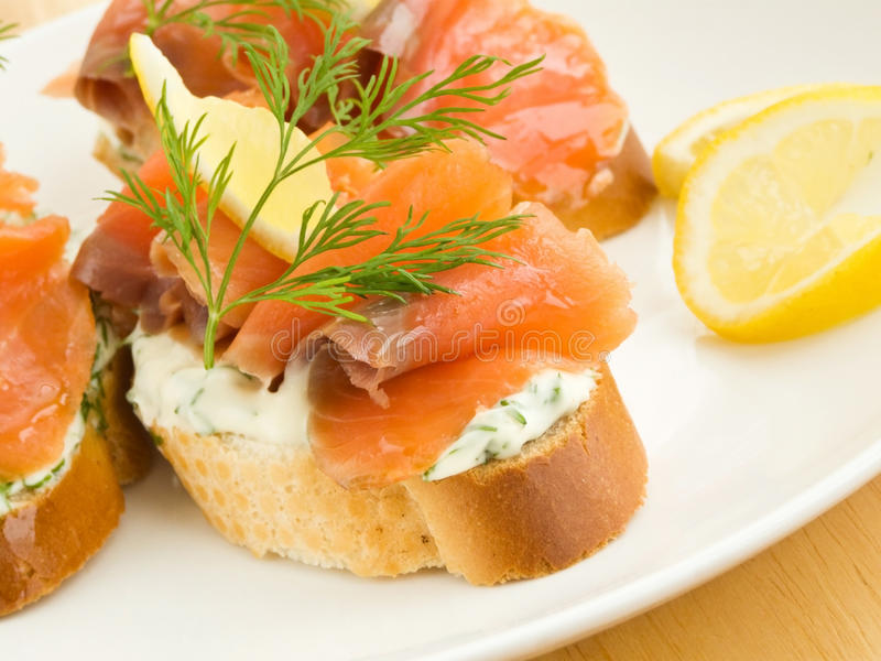 Seafood sandwiches stock image