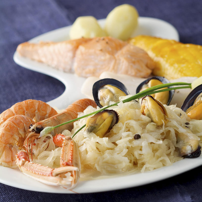 Download Seafood Sauerkraut Stock Photography - Image: 23704322