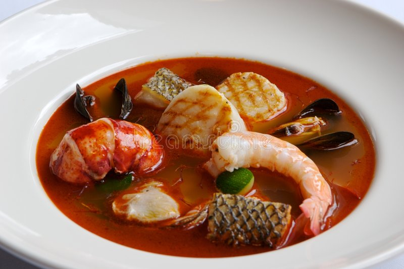 Download Seafood Soup stock image. Image of gourmet, flavor, bronze - 3234981