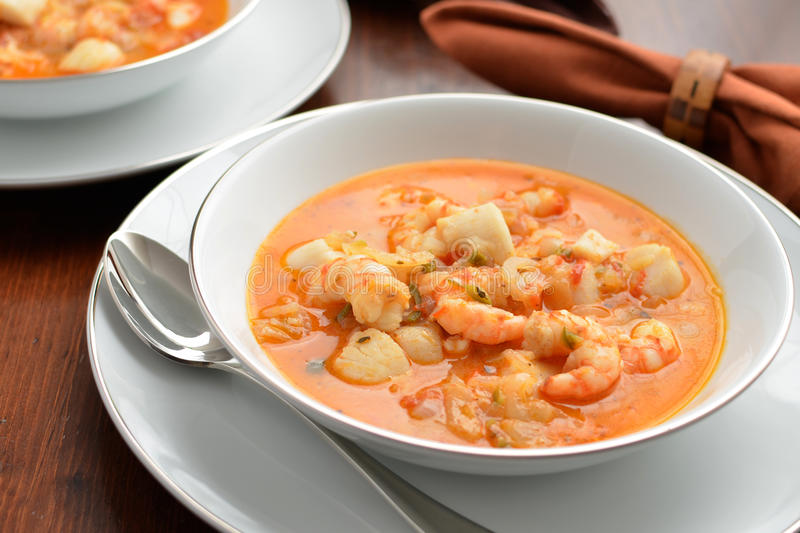 Seafood stew stock photo image of food gourmet dining for Creamy fish stew