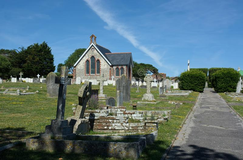 Seaford Chapel & Cemetery, Sussex. UK stock photo