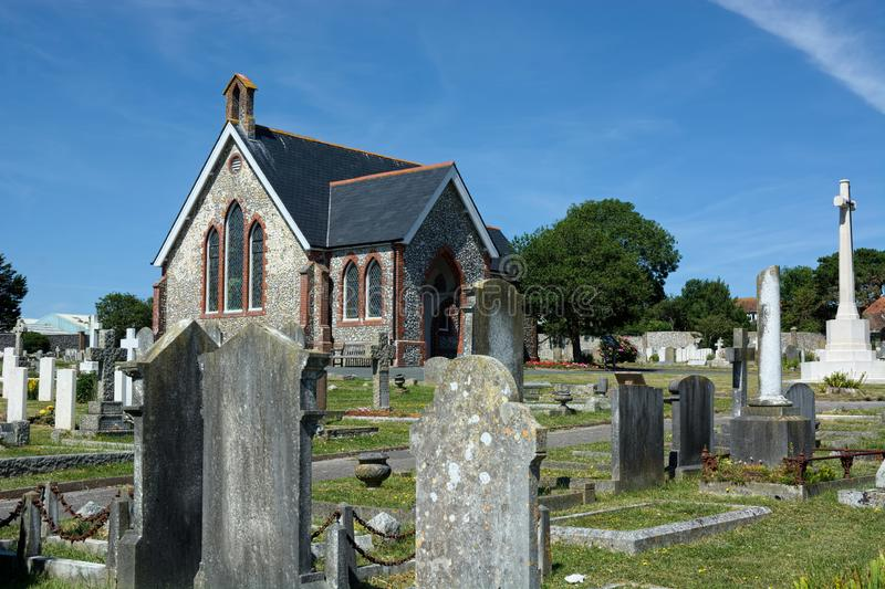 Seaford Chapel & Cemetery, Sussex. UK royalty free stock photography