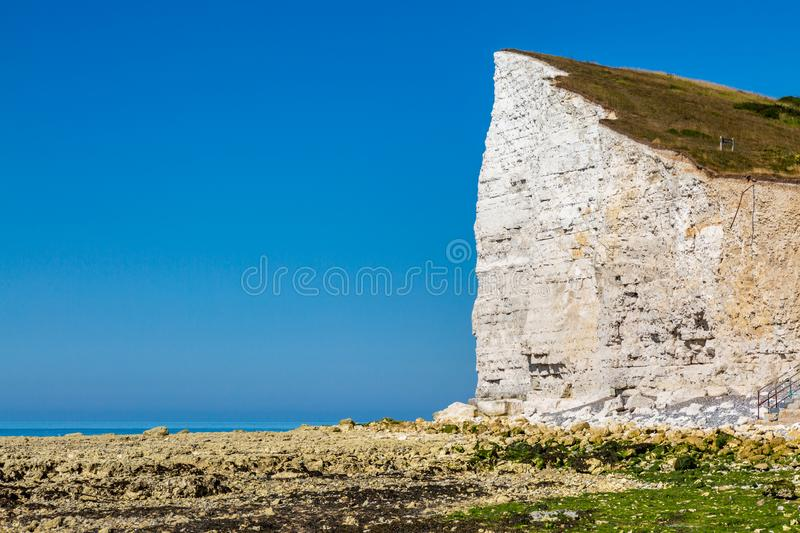 Seaford Head Cliff. Viewed from Hope Gap, on a sunny summers morning stock images