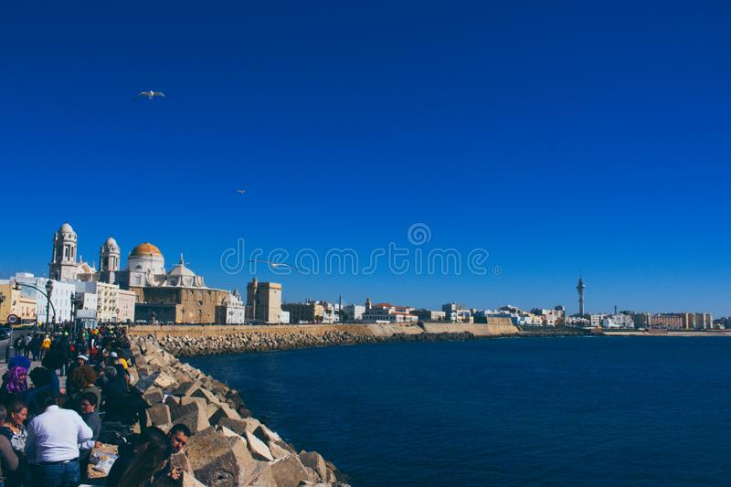 seafront arkivfoto