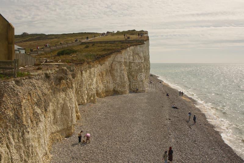 Seafront a Birling Gap, Sussex, Inghilterra fotografia stock