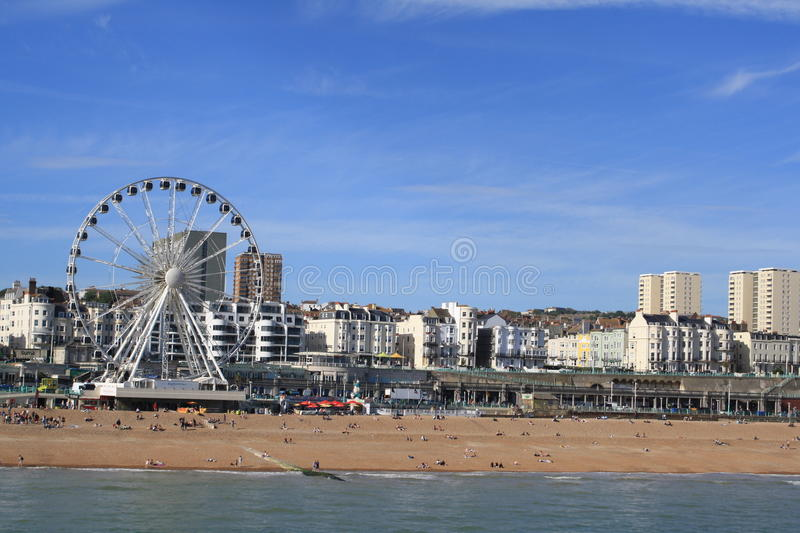 Seafront in Brighton royalty free stock photography