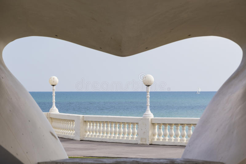 Seafront. At the De La Warr Pavilion, Bexhill, England, United Kingdom royalty free stock photography