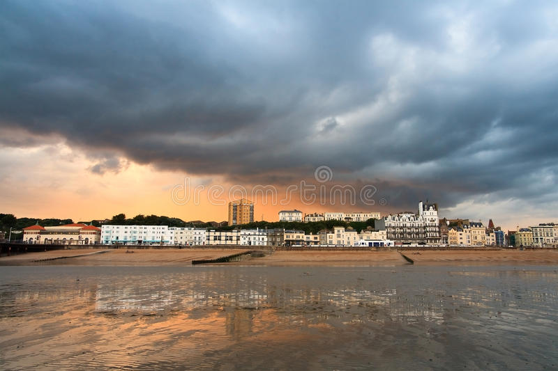 Seafront in Hastings, UK. royalty free stock image