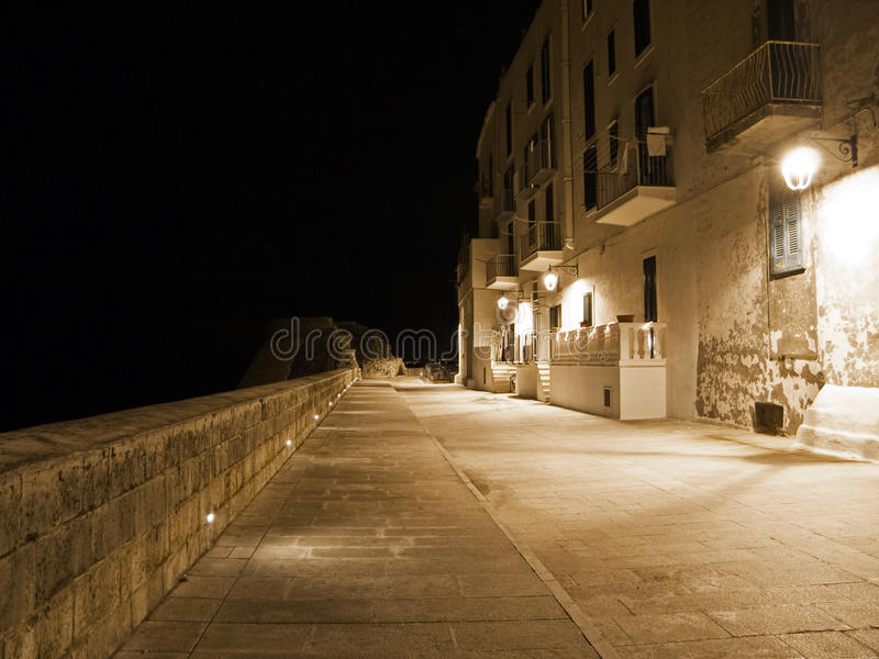 Download Seafront By Night. Monopoli. Apulia. Stock Image - Image: 12639293