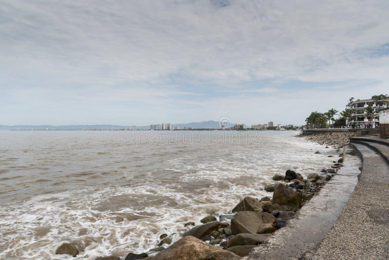 Seafront Puerto Vallarta royaltyfri fotografi